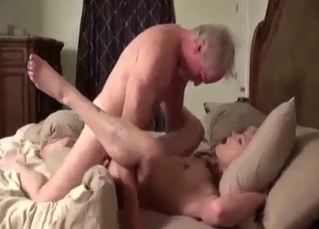 Grandpa helps his slutty granddaughter to cum quicker
