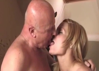Submissive daughter licks her daddy's soles