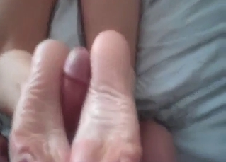 Redhead mommy is sucking her brother's wiener