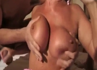 Mommy jerks off her sons and gets fucked