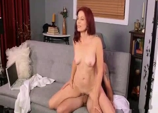 Tattooed big-ass mom rides her son with love