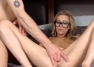 Skinny young blonde fucks with an older brother