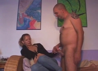 Seduced sister jerks and sucks my dick