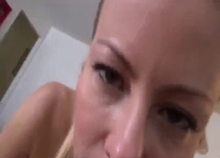 Busty redhead beauty jerks and sucks her uncle