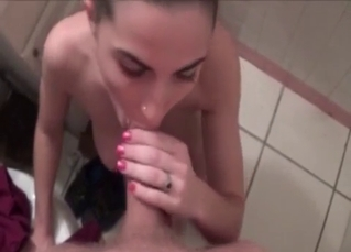 Glamorous sister enjoys filthy oral sex