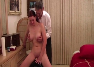 Busty slutty daughter wanna fuck with her dad