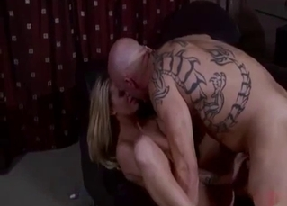 Tattooed uncle pounds his slutty as fuck niece
