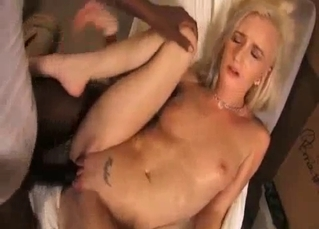 White stepsister fucks with a black brother