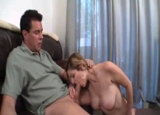 Busty younger sister jerks my wiener so hot