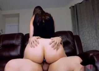 My big-bottomed sister enjoys the doggy style incest