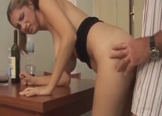 Daddy gets an awesome blowjob by his daughter