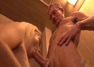 Big-boobed blonde realizes my dirty desires