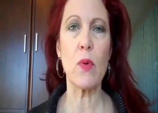 Redhead mom seduced her son in POV mode